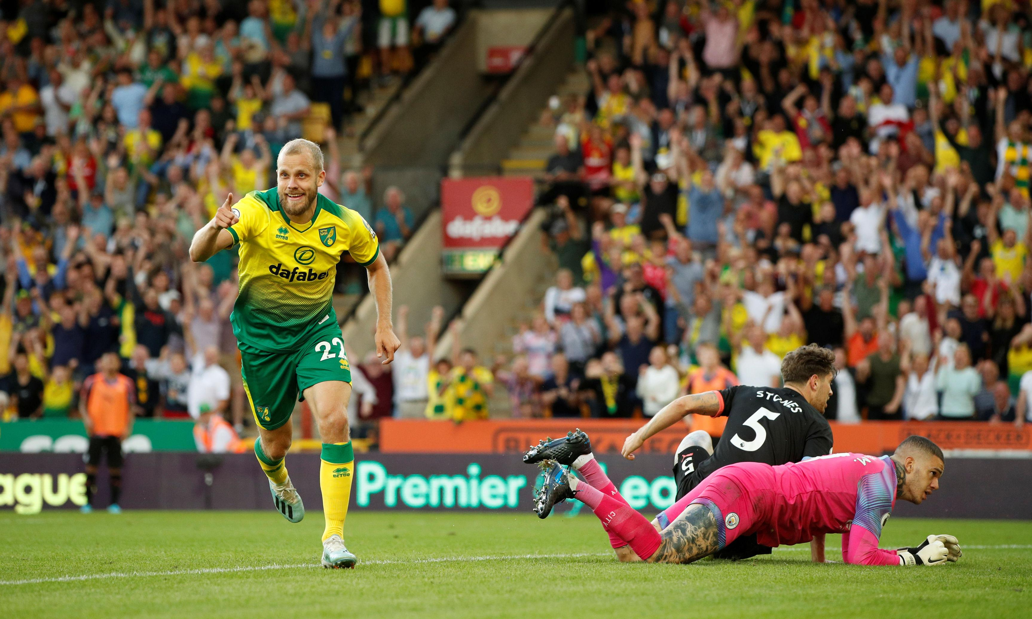 Teemu Pukki strikes again to seal Norwich's shock win over Man City