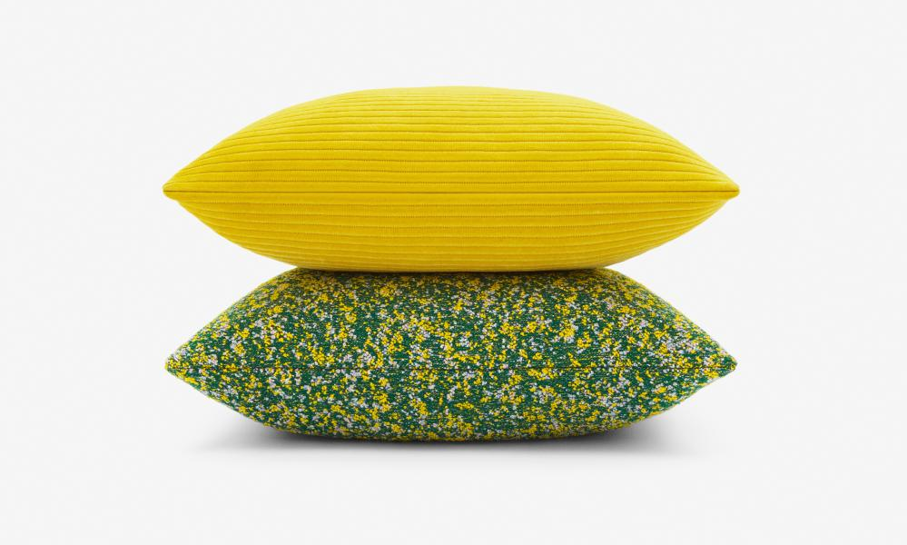 Phlox (top) and Atom cushions for Kvadrat