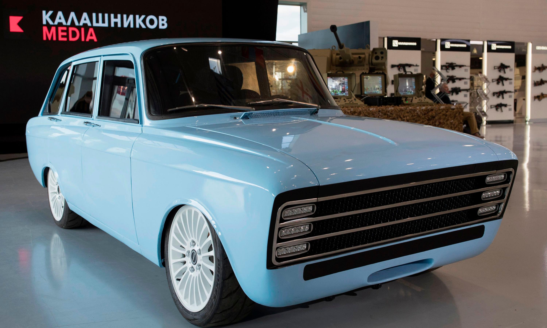 Kalashnikov takes on Tesla with retro-look electric 'supercar'