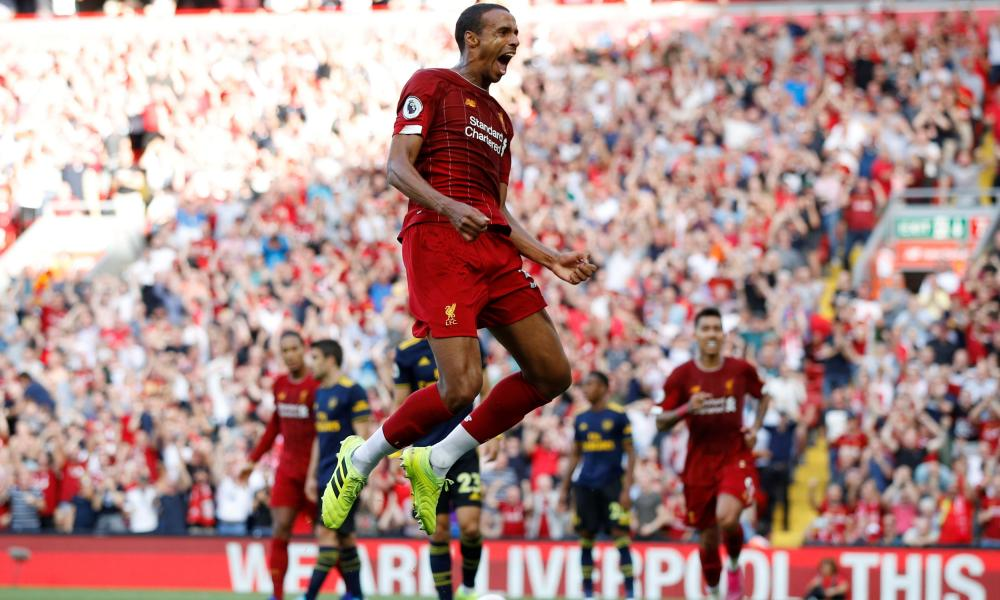 Joël Matip after opening the scoring.