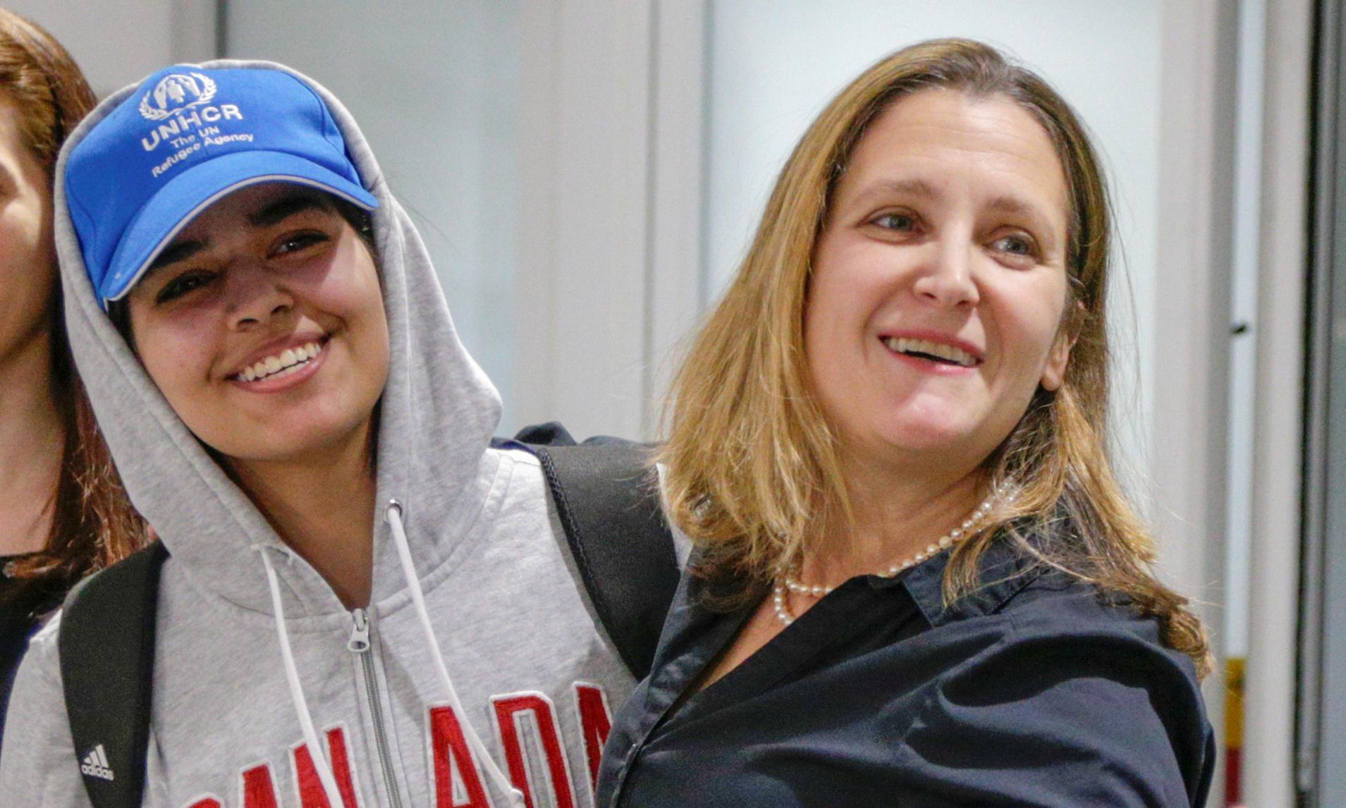 Rahaf al-Qunun lands in Toronto after long journey to safety