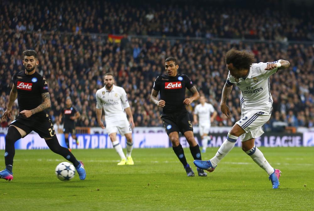 Marcelo shoots.