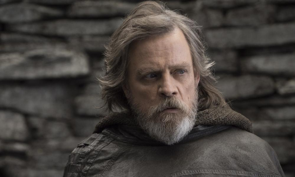 Poignantly grizzled … Mark Hamill as Luke Skywalker.