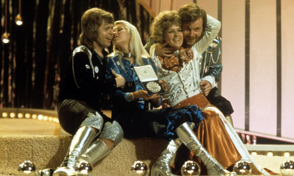 Abba win the Eurovision song contest in 1974.