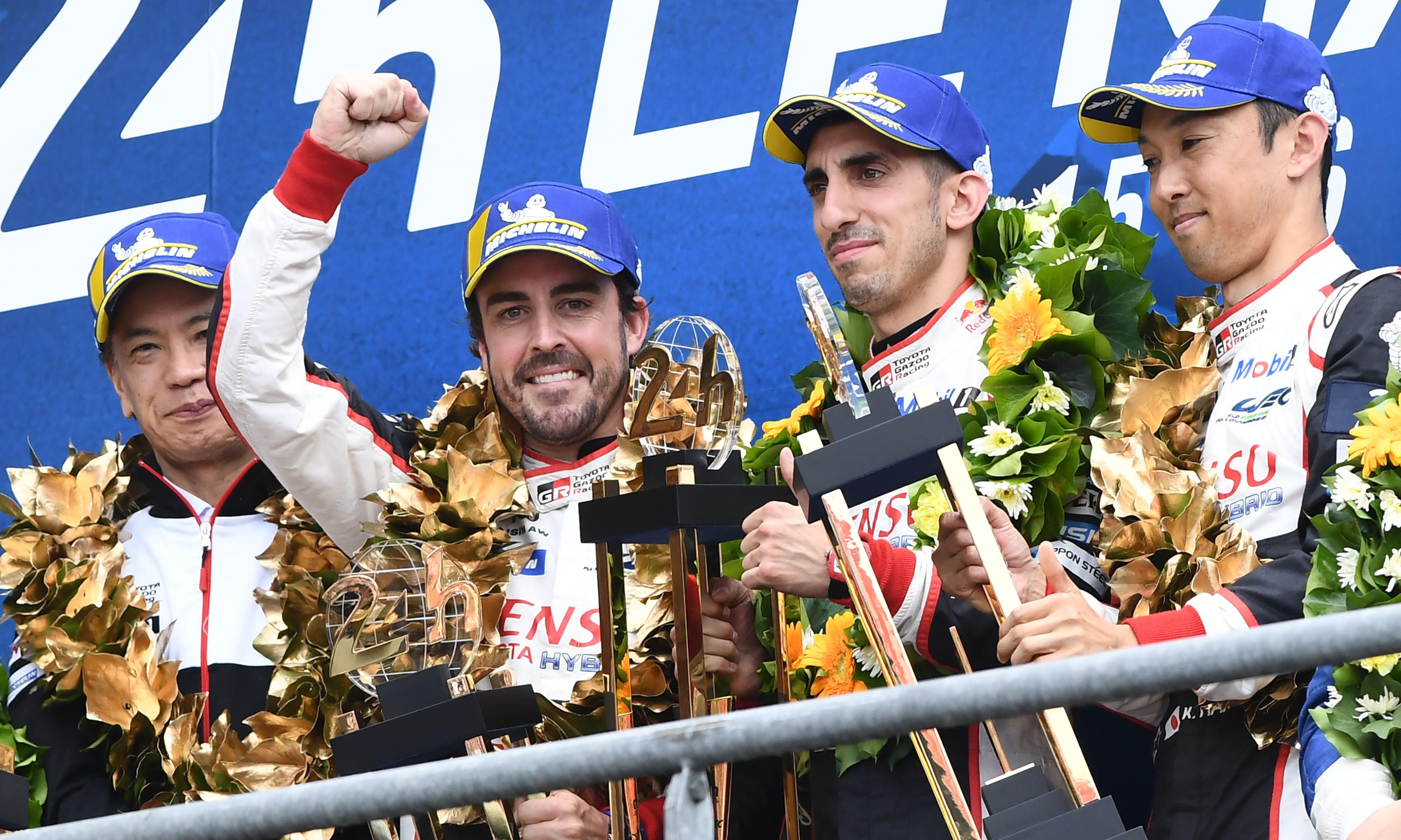Le Mans 24 Hours: Alonso's Toyota team win after rivals change wrong tyre