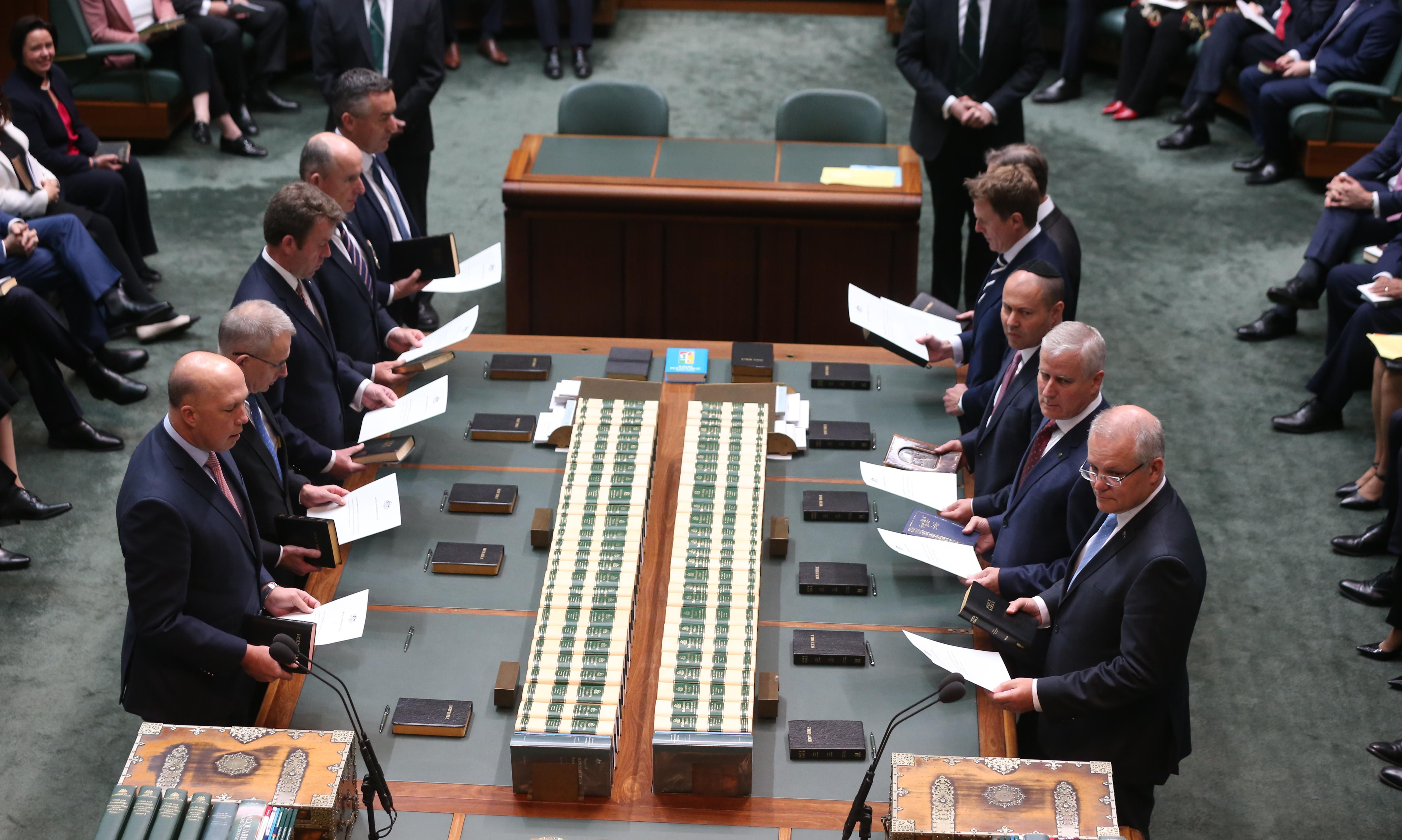 Morrison's still waiting for a policy spark but some colleagues have plenty of ideas