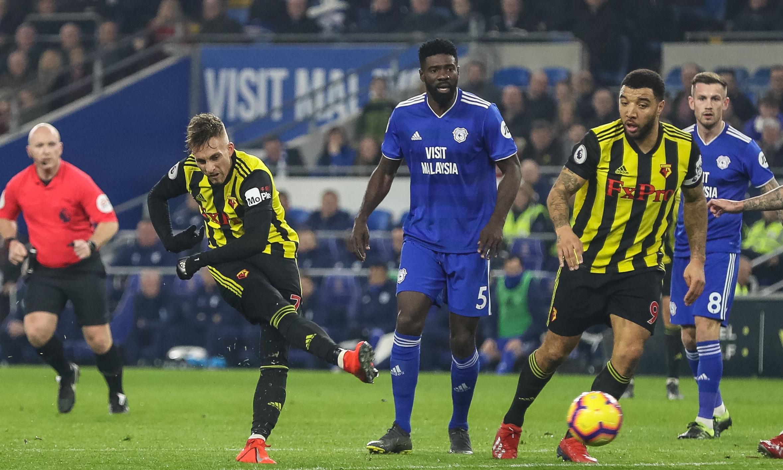 Watford in seventh heaven as Gerard Deulofeu hat-trick sinks Cardiff