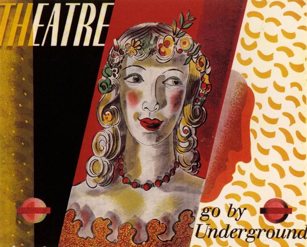 One of Barnett Freedman's posters for the London underground in 1936.