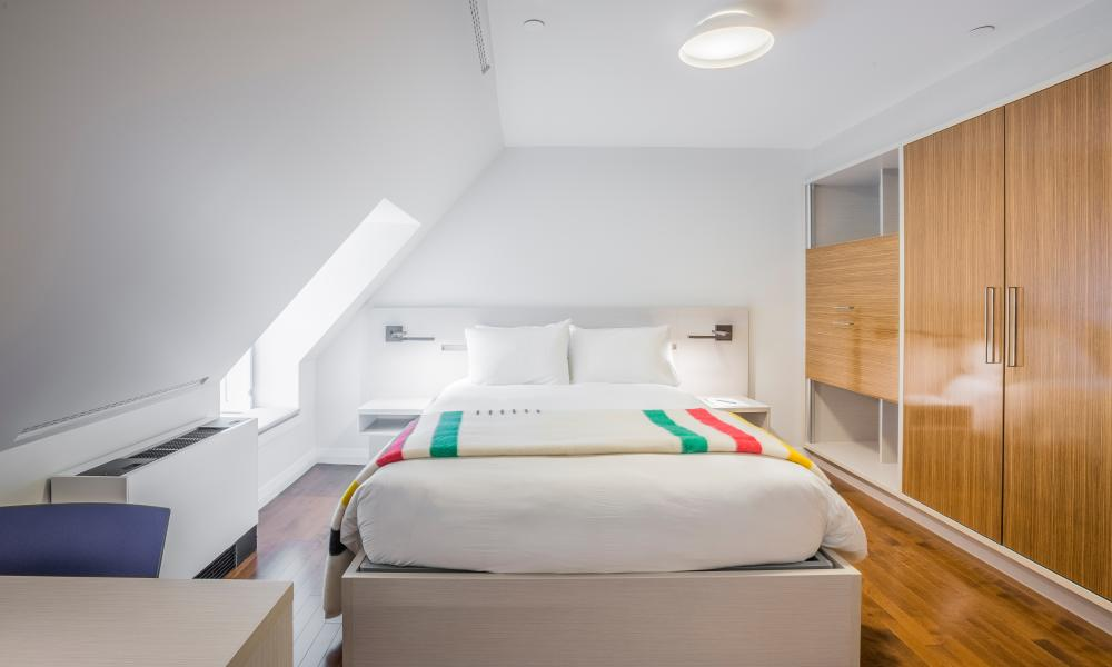 One of the new bedrooms, Monastere des Augustines, Québec, Canada