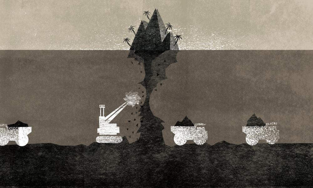 Illustration of mining