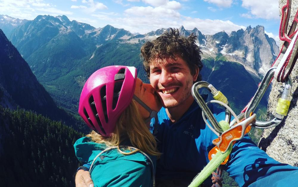 'I met Marc when he was 19 and I was 20 and we just started climbing together' … Brette Harrington and Leclerc.