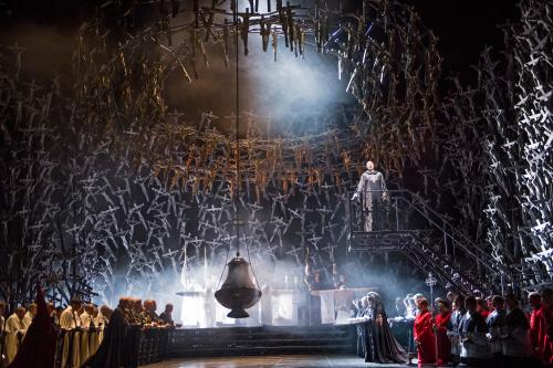 The Bulgarian soprano Sonya Yoncheva performs in a new production of the Bellini opera Norma at the Royal Opera House in London