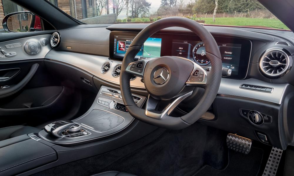 Inside story: the magnifcent interior of the E300 with its 'floating' widescreen display.