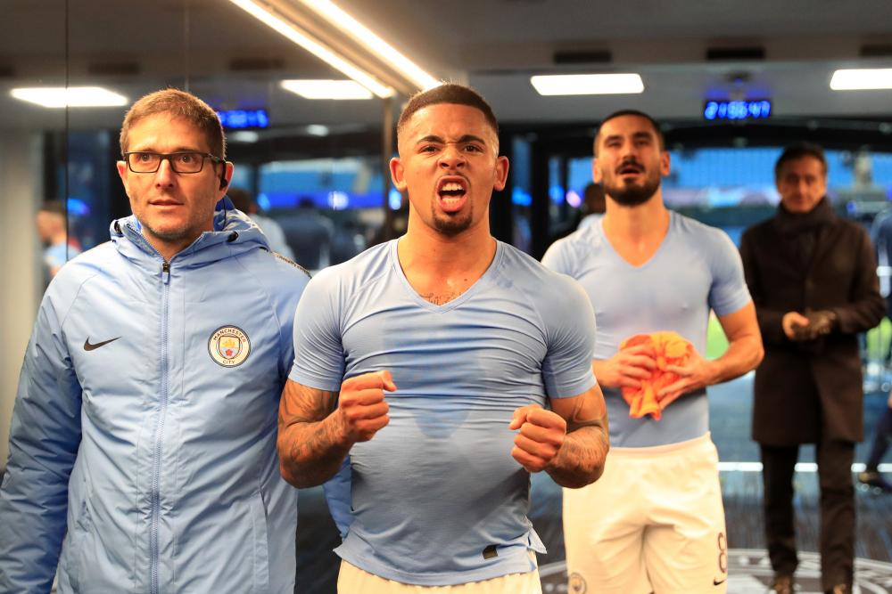 Gabriel Jesus after the Hoffenheim game.