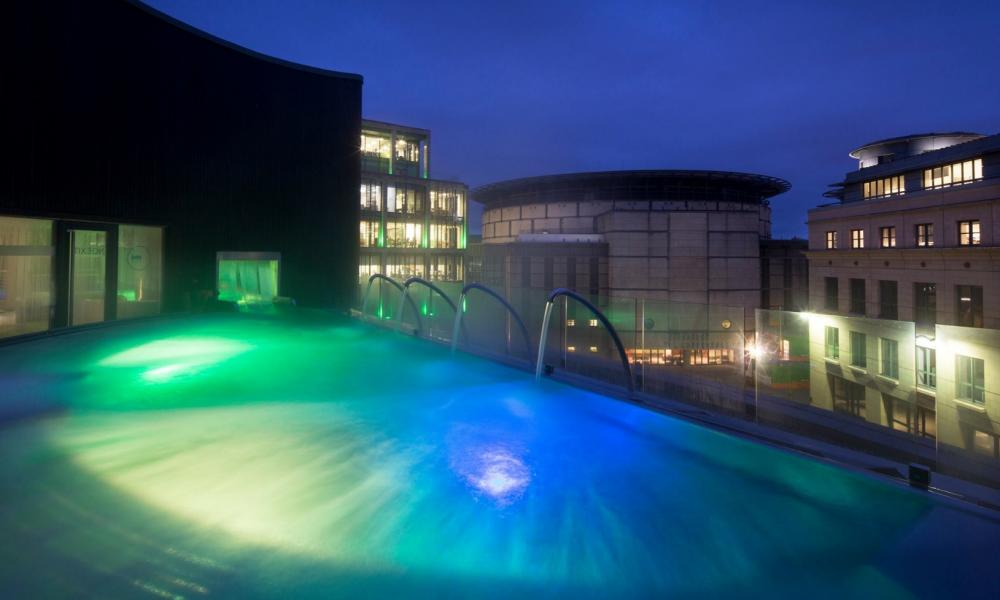 Spa at One Edinburgh rooftop pool