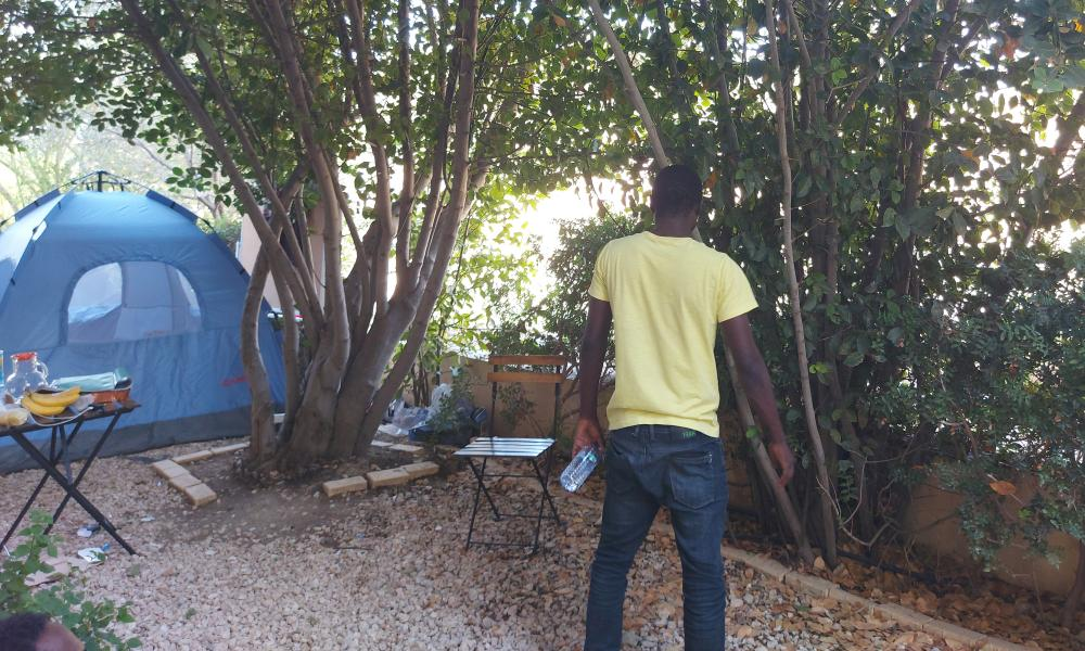 Emil, one of three Cameroonians stranded in the Cypriot buffer zone.