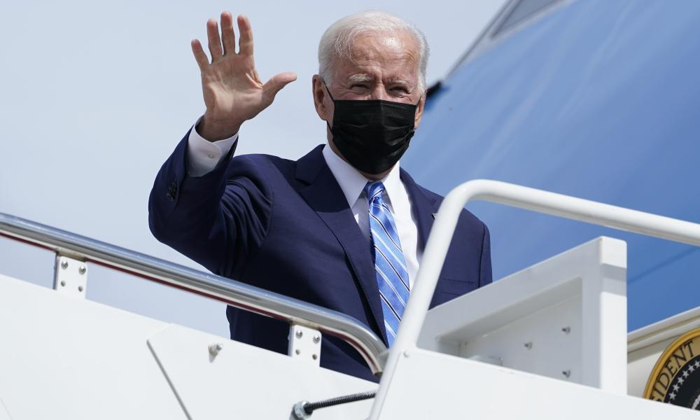 President Joe Biden is travelling to the Chicago area to highlight his order to require large employers to mandate COVID-19 vaccines for its workers.