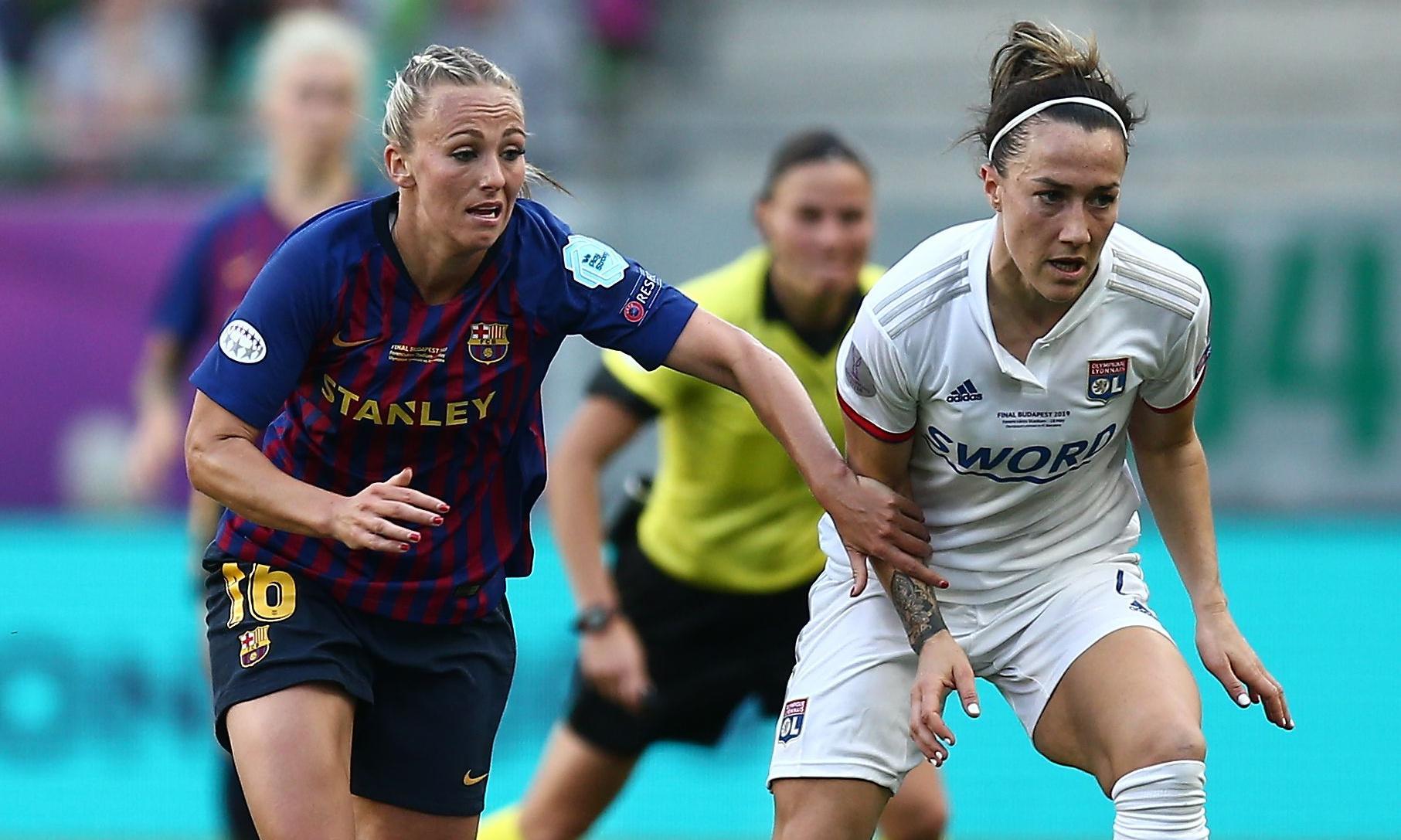 Lyon's Lucy Bronze makes World Cup pledge to Barcelona's Toni Duggan