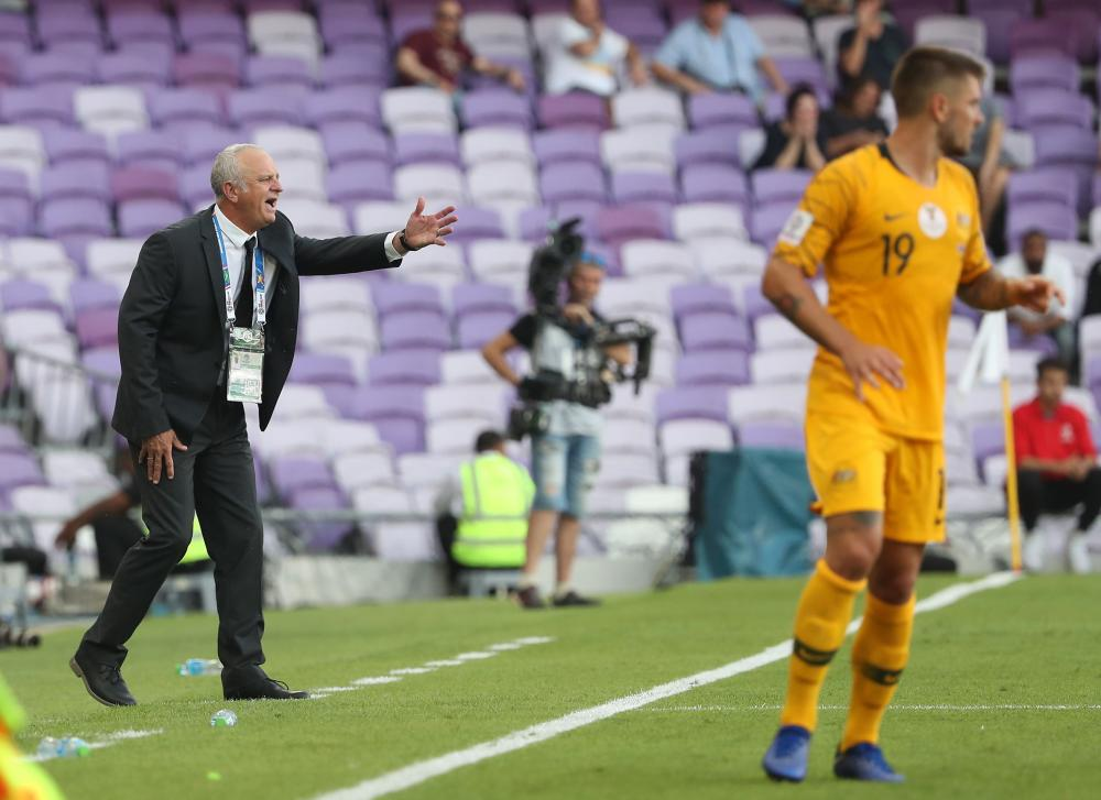 Graham Arnold is expecting an improved performance from Australia in tonight's clash with Palestine.