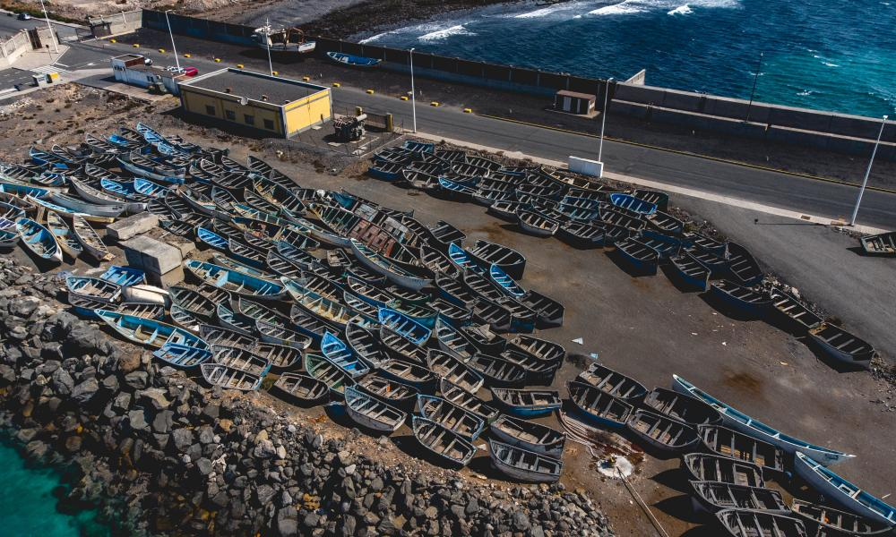 Recovered small boats on Gran Canaria.