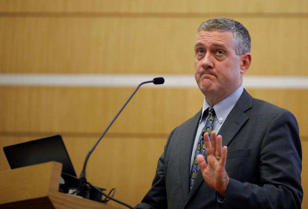 St. Louis Federal Reserve Bank President James Bullard speaks at a public lecture in Singapore in 2018