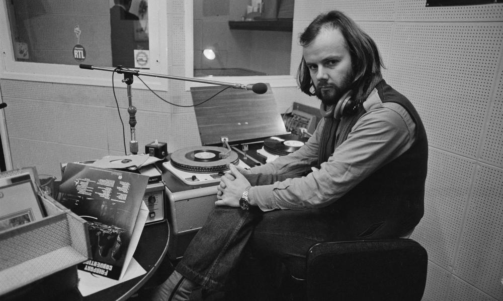 John Peel in the studio.