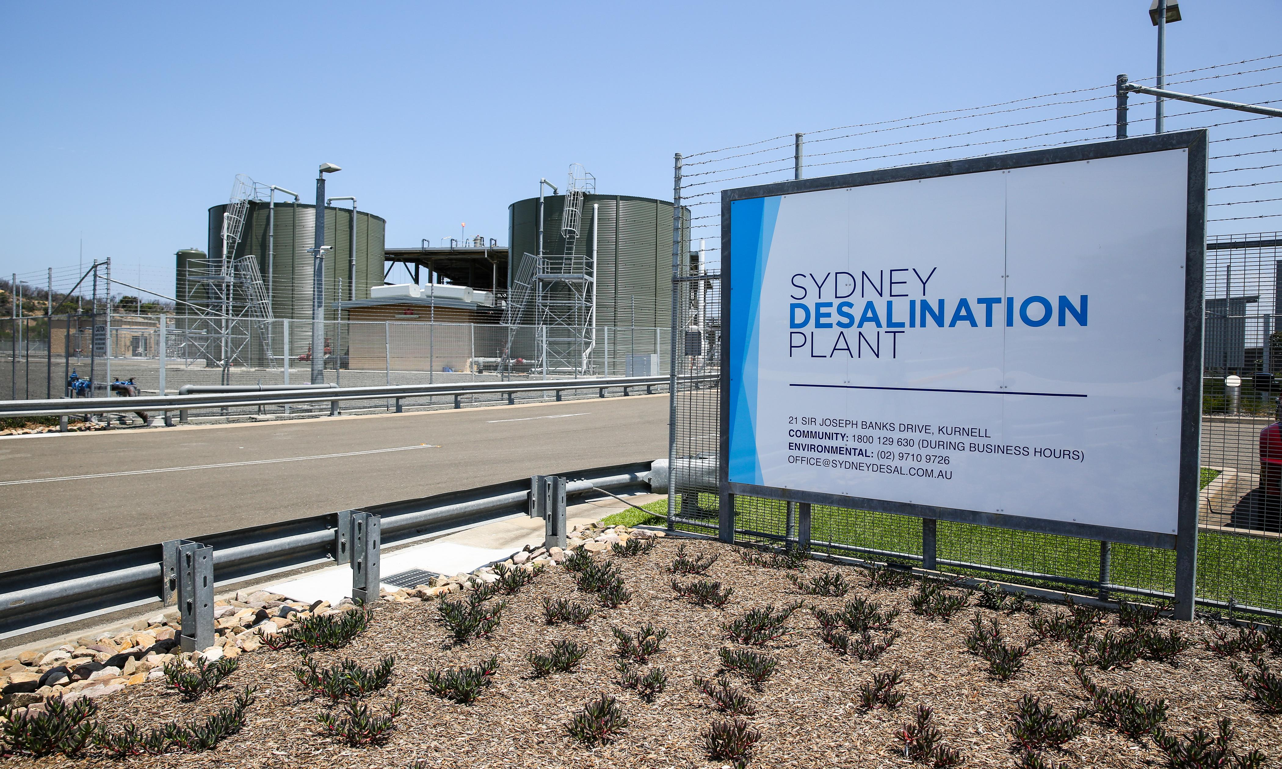 Sydney's desalination plant set to expand as drought continues