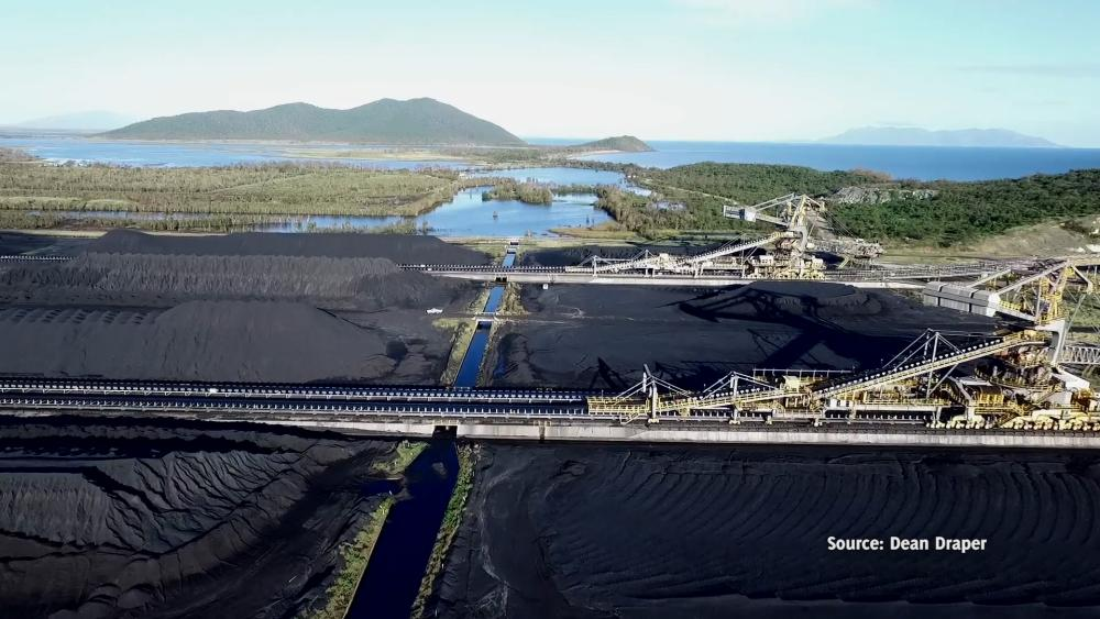 The Abbot Point coal port bordering the Caley valley wetlands.