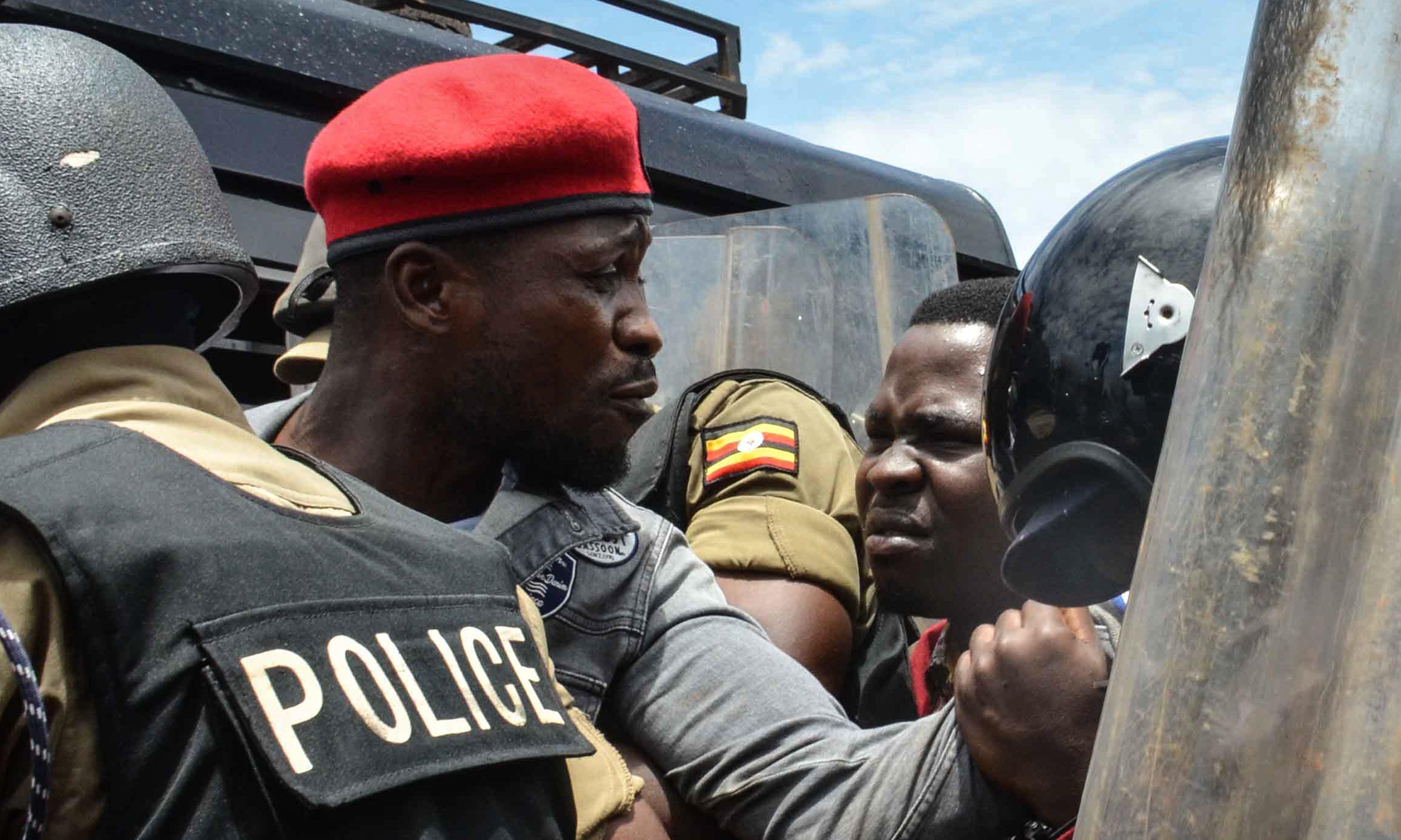 Ugandan police detain Bobi Wine and fire teargas at supporters