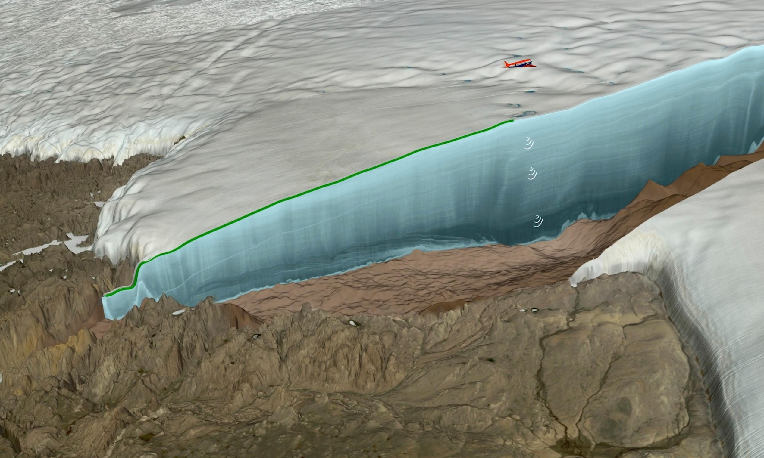Impact crater 19 miles wide found beneath Greenland glacier