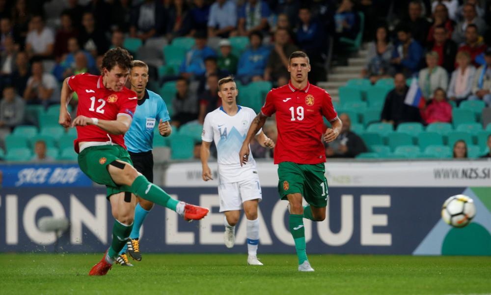Bozhidar Kraev fires Bulgaria into an early lead.