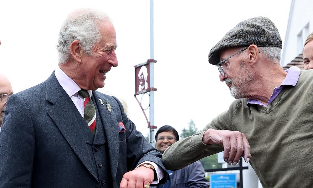 Prince Charles, seen here meeting members of the public in Ayr, is said to be 'surprised and shocked' by claims made about his former aide, Michael Fawcett.