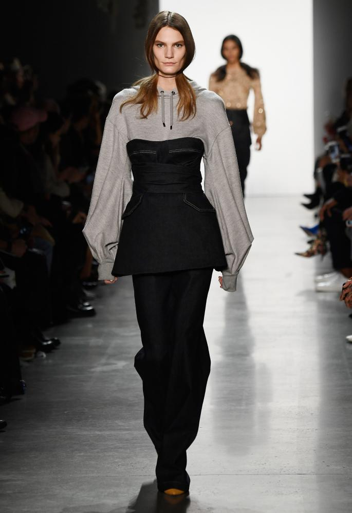 Jonathan Simkhai's silhouettes were inspired by portraits of the Suffragettes.