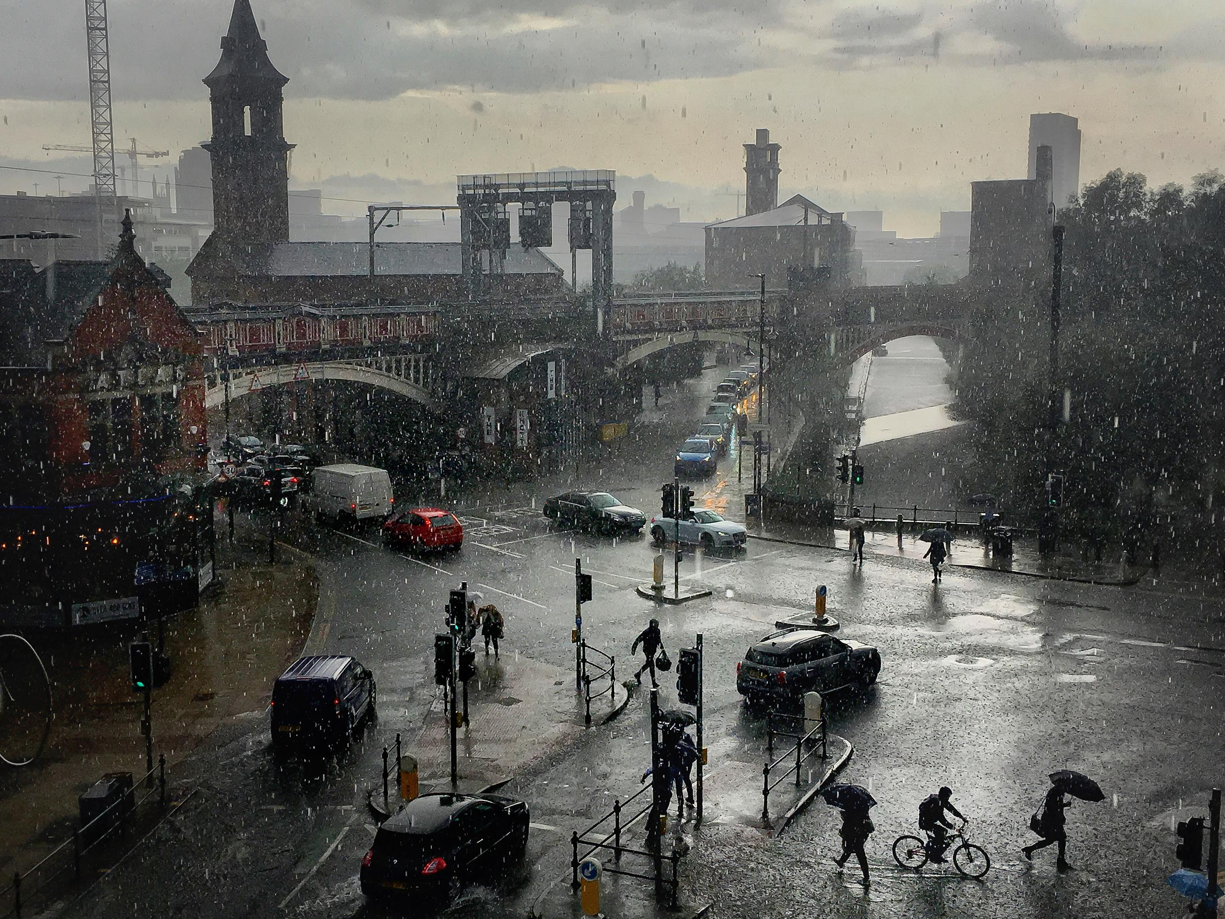 The big picture: Manchester captured in the rain evokes Lowry