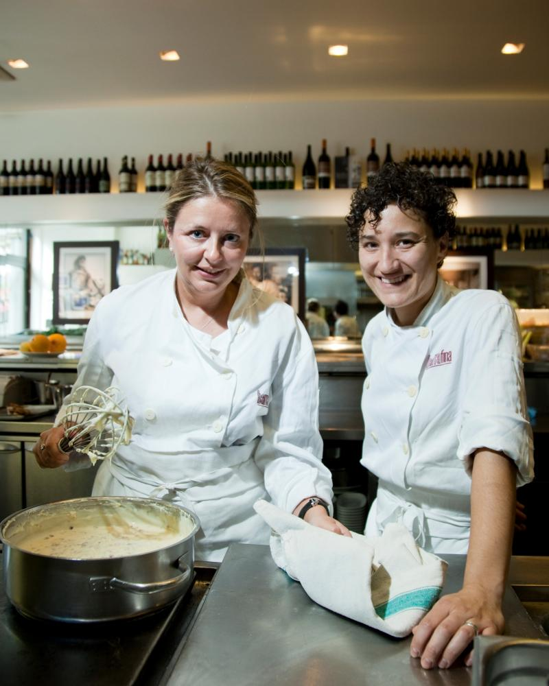 Rachel Cooke and Nieves Barragan Mohacho at Barrafina.