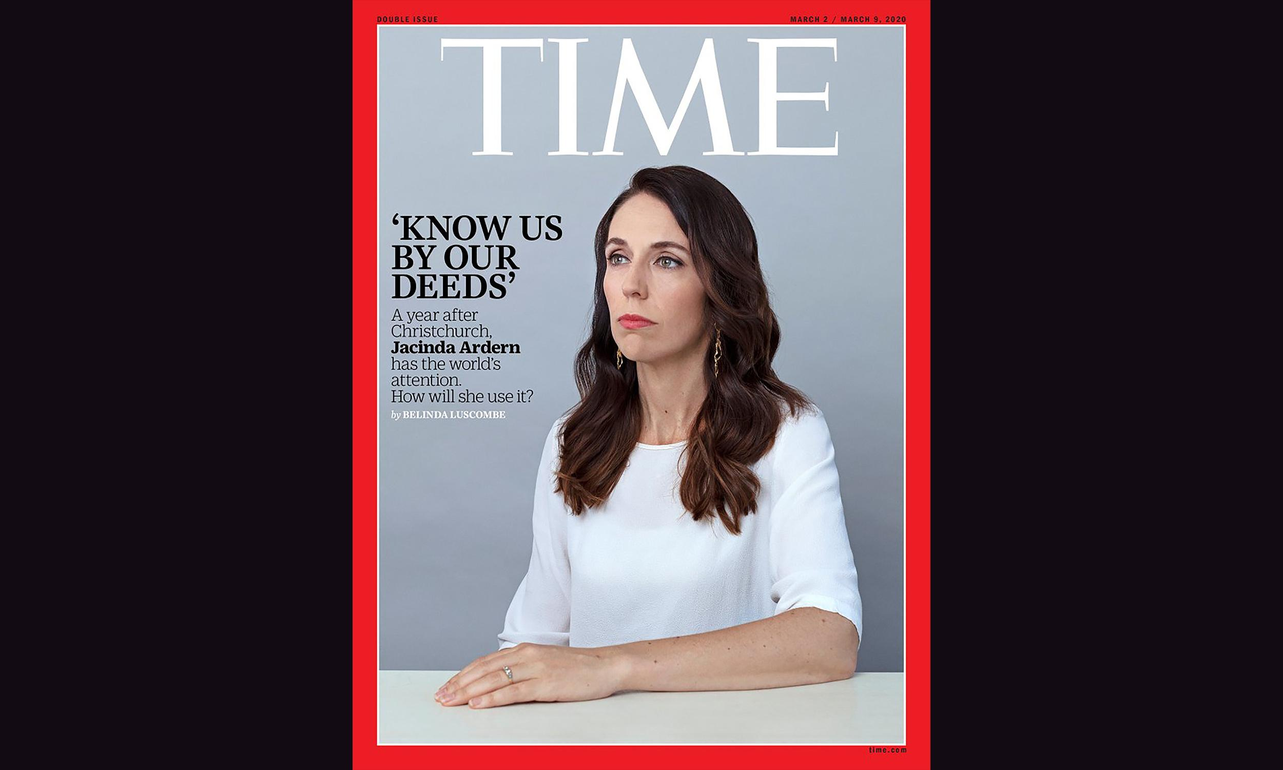 'A new kind of soft power': Jacinda Ardern appears on cover of Time magazine