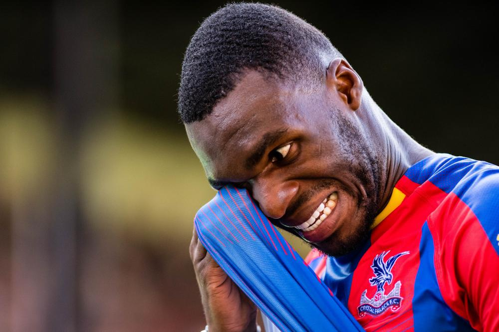 September 1: Christian Benteke of Crystal Palace during the Premier League match between Crystal Palace and Southampton FC at Selhurst Park.