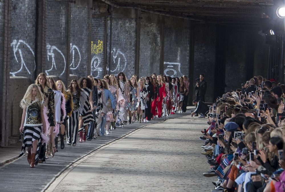 Marques Almeida show under the arches at Brick Lane