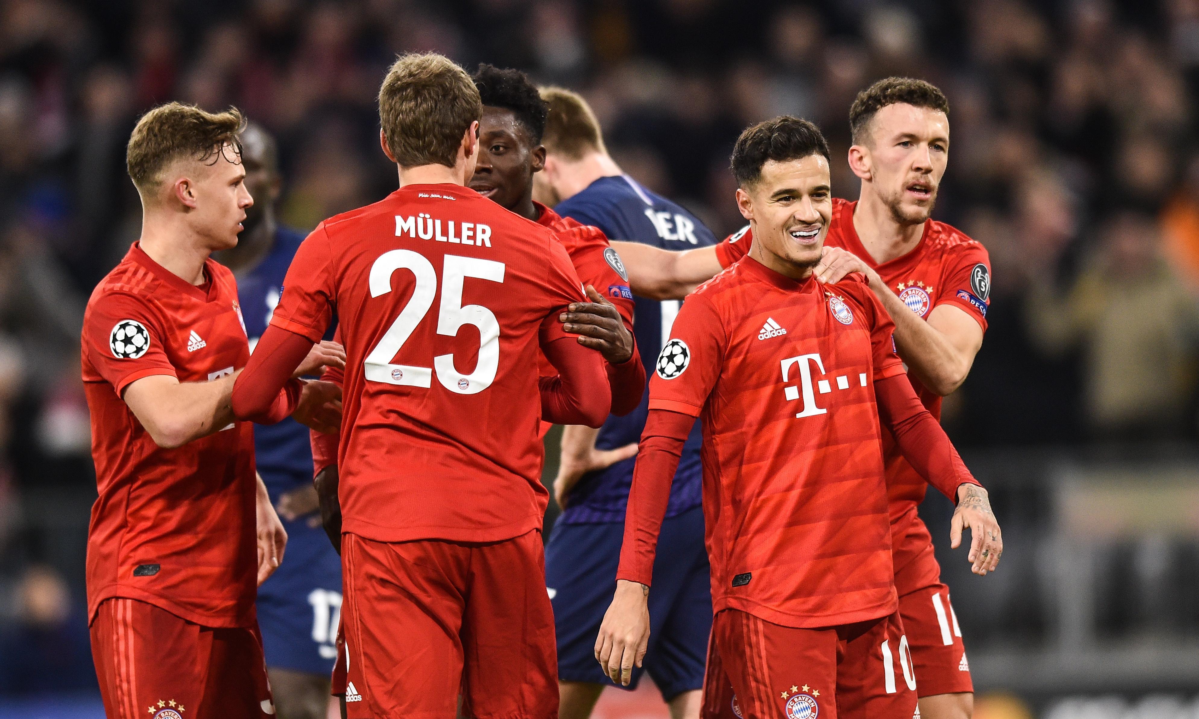 Coutinho adds finishing touch as Bayern Munich brush Tottenham aside