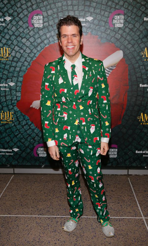 Nice shoes! Perez Hilton gets festive.
