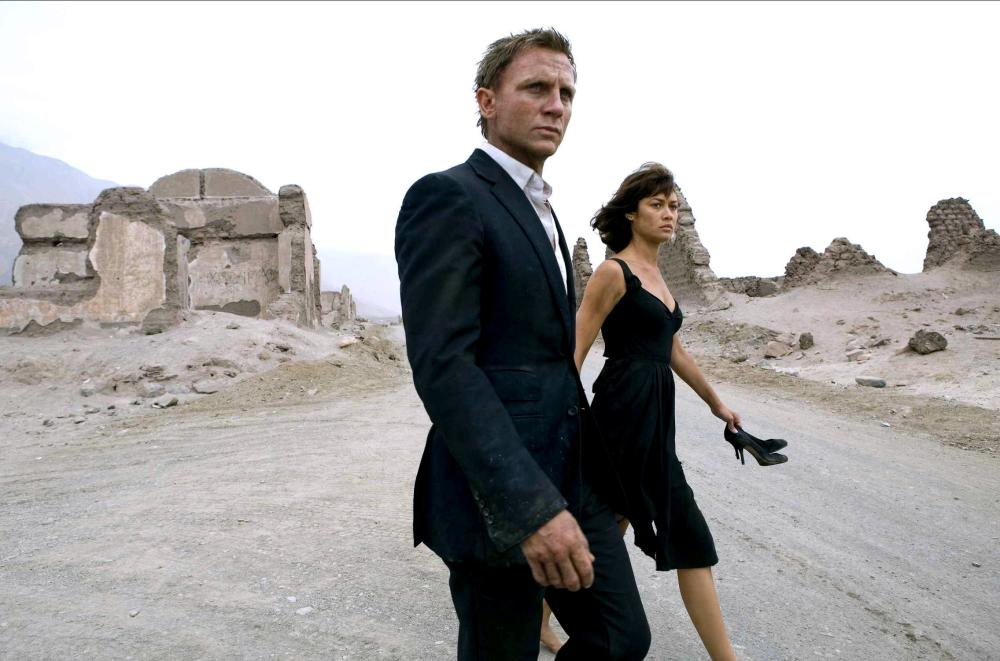 Daniel Craig and Olga Kurylenko in Quantum of Solace, 2008.