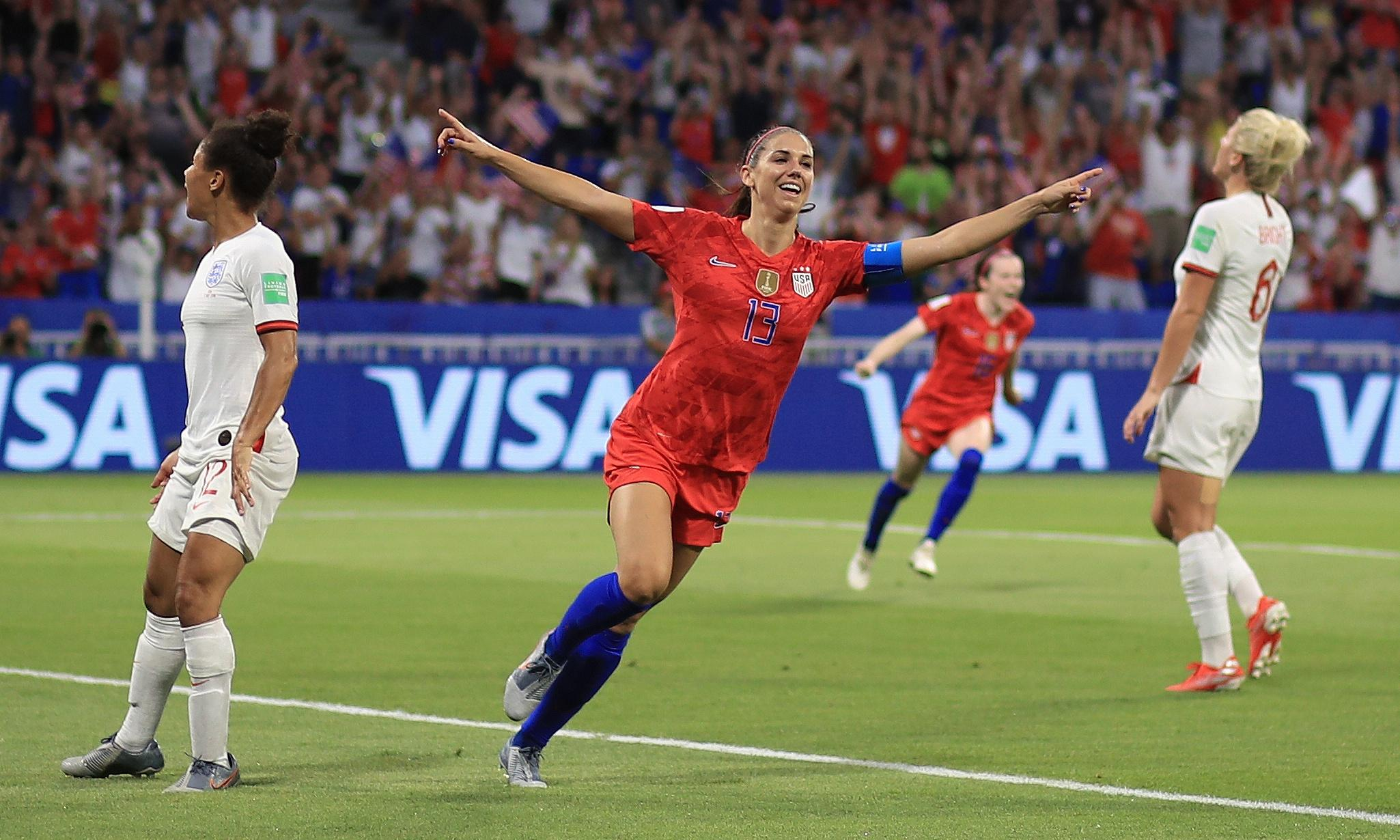 Alex Morgan heads USA past England into Women's World Cup final