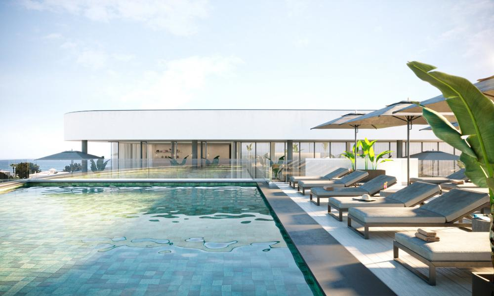 To infinity and beyond: the rooftop pool at Longevity Health & Wellness on the Algarve