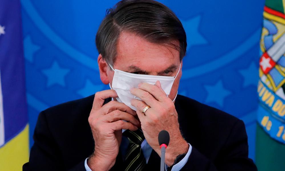 Hear no evil, see no evil, speak no evil. Bolsonaro.