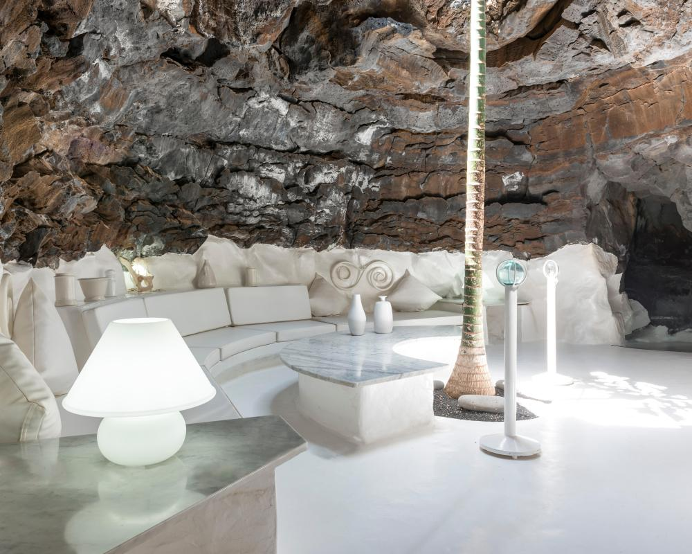 A cave lounge in the César Manrique Foundation.
