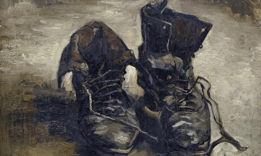 Shoes by Van Gogh, which will go on display along with other pieces he created whilst in London.