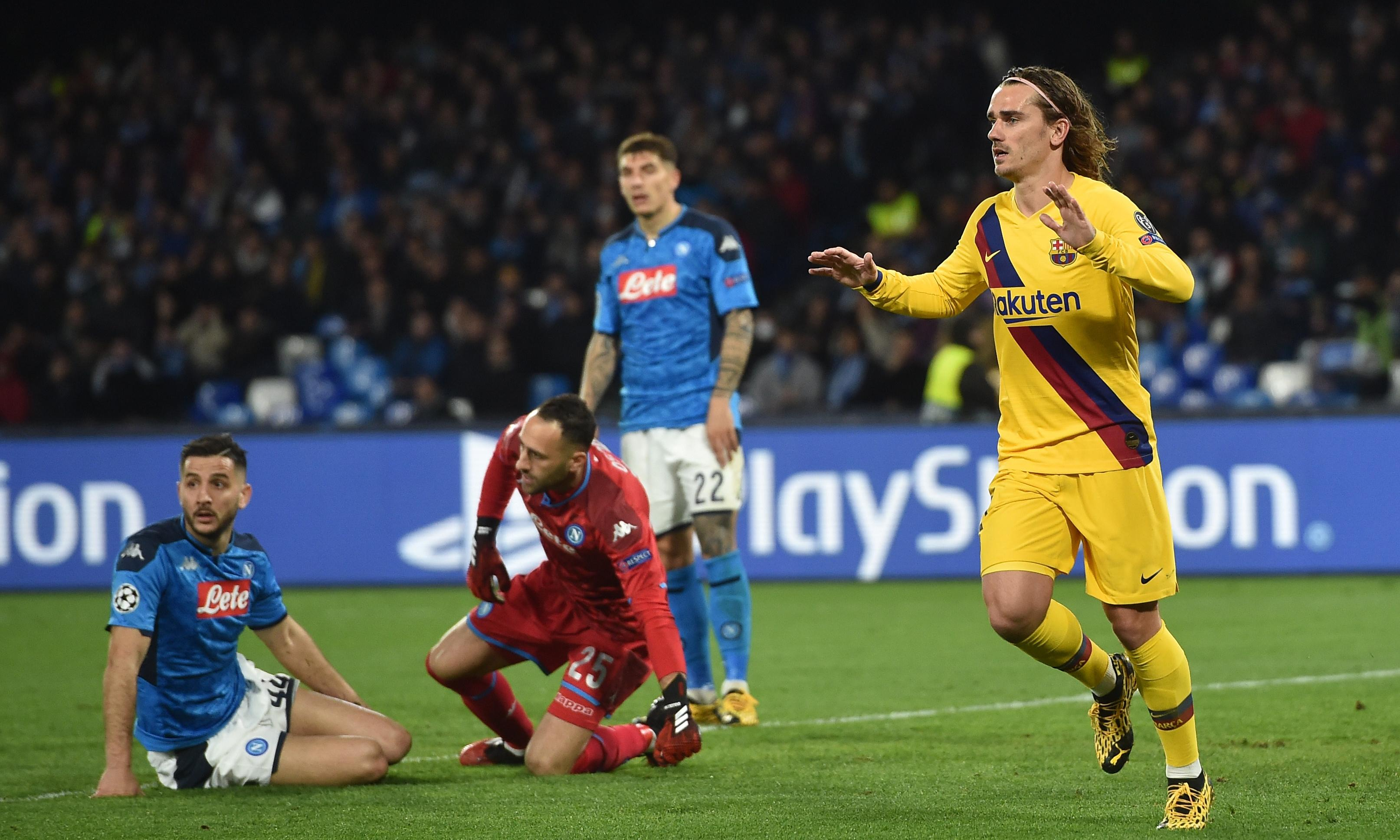 Griezmann rescues Barcelona after Mertens levels Napoli scoring record