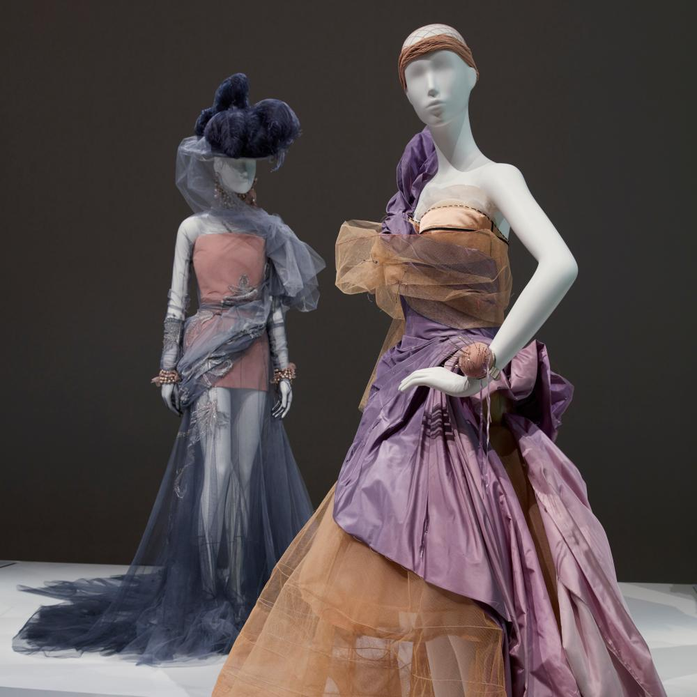 John Galliano's gowns for Dior were flamboyant and over the top.