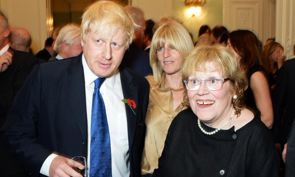 Boris Johnson, then mayor of London, his sister, Rachel,  and mother Charlotte Johnson Wahl