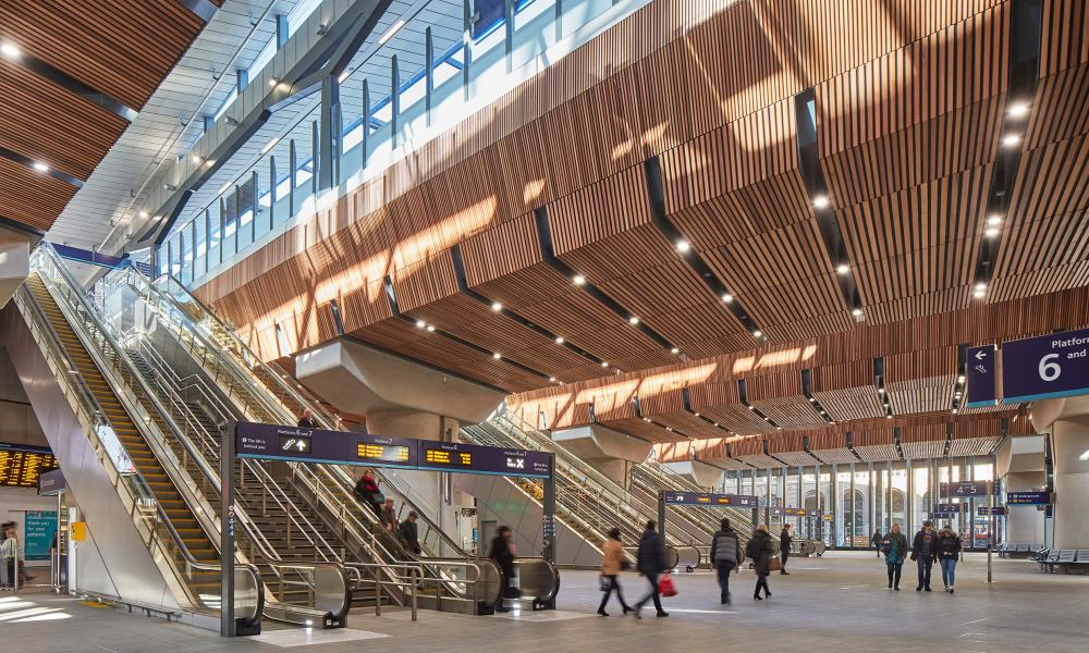 Renovated London Bridge Station, by Grimshaw Architects.
